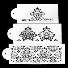 3pcs/Lot New Popular Design Stencil Fondant Cake Decorating Tools Mold Pastry Baking Decoration For