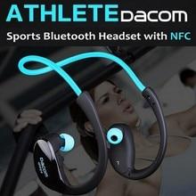 Atleta Dacom NFC Inalámbrica Bluetooth 4.1 auricular Del Gancho Del Oído Sport Sweatproof Mini Wireless Hifi Bass Auriculares Con Micrófono