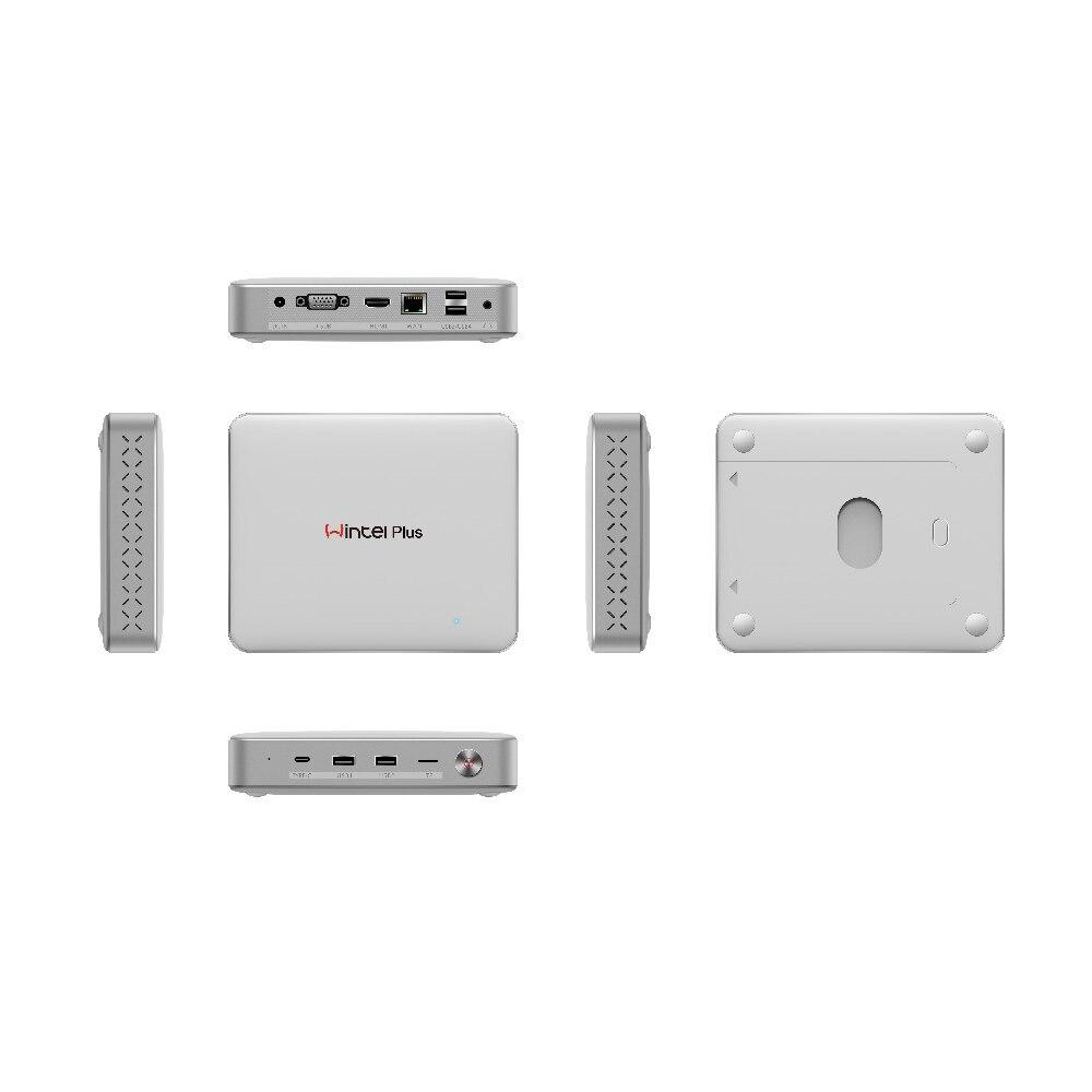 Wintel плюс W11 Intel Apollo N3450 Smart ТВ коробке Windows 10 4 ГБ DDR3 32 ГБ Встроенная память Mini PC 2,4 г/5 г Wi-Fi Bluetooth 4,0 Media Player