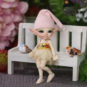 Image 4 - Free Shipping Fairyland FL Realpuki Pupu Doll BJD 1/13 Pink Smile Elves Toys