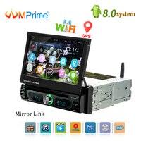 AMPrime Авторадио 1 Дин Радио Android gps 7 дюймов HD Сенсорный экран Автомобильный мультимедийный плеер Зеркало Ссылка Поддержка заднего вида камера