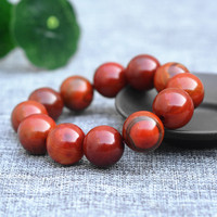 Natural South Red Chalcedony Jades Stone Bracelets 20mm Beads Buddha Beads Bangles Gift for Men Fashion Jades Stone Jewerly
