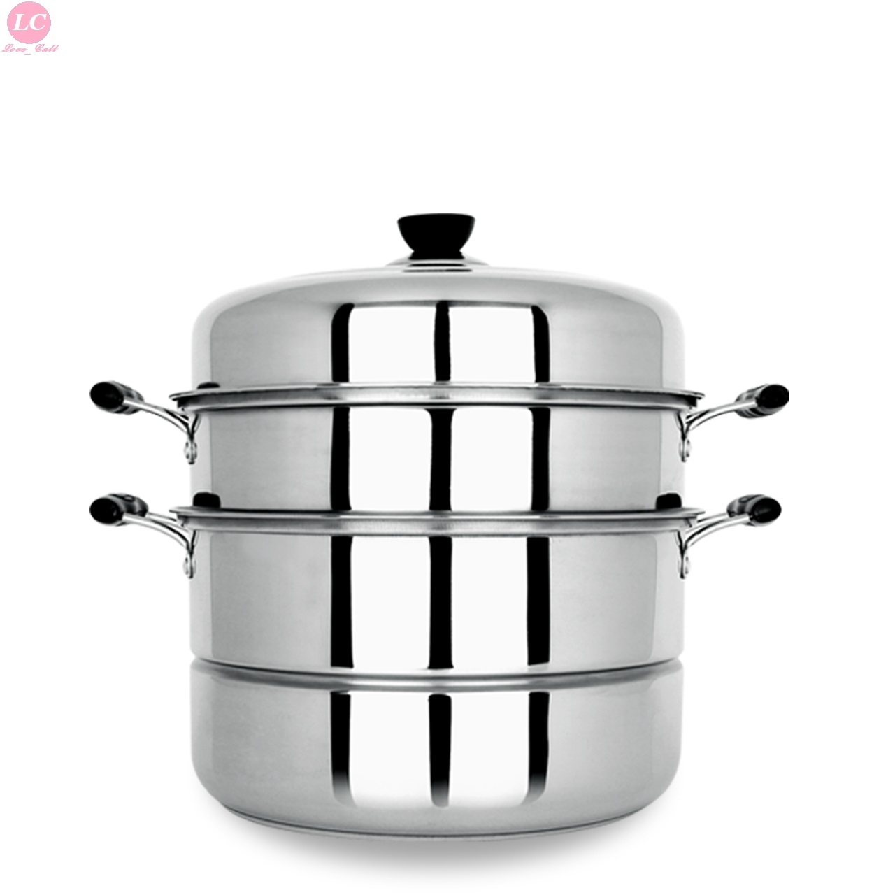 Vaporizador de cocina hogar Acero inoxidable 3 capas 28 cm cocina gruesa al vapor 13 litros utensilios de cocina-in Ollas de vapor from Hogar y Mascotas    1