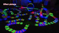 600pcs Track 1pcs Led Car MAGIC With TRACKS Miraculous Glowing Race Track Bend Flex Cars Toys