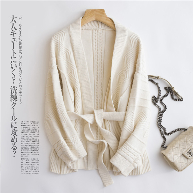 Cardigan femmes 2018 été élégant kaki gris Beige tricoté Cardigan pour femmes tricoté Kimono Cardigans chandail Para Mujer - 2