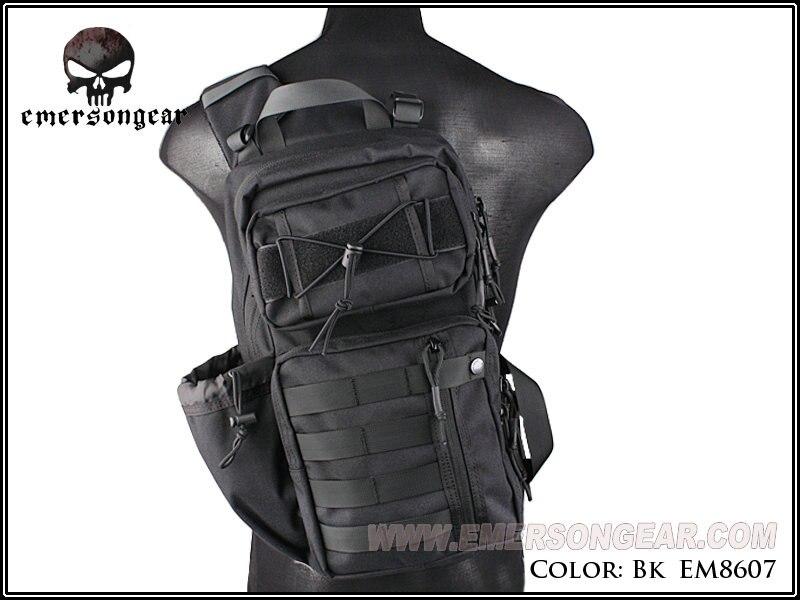 Emerson Backpack Military 1000D TFM3 Sling Pack Shoulder Travelling Multi-Purpose Rucksack Hunting Accessories EM8607 Black