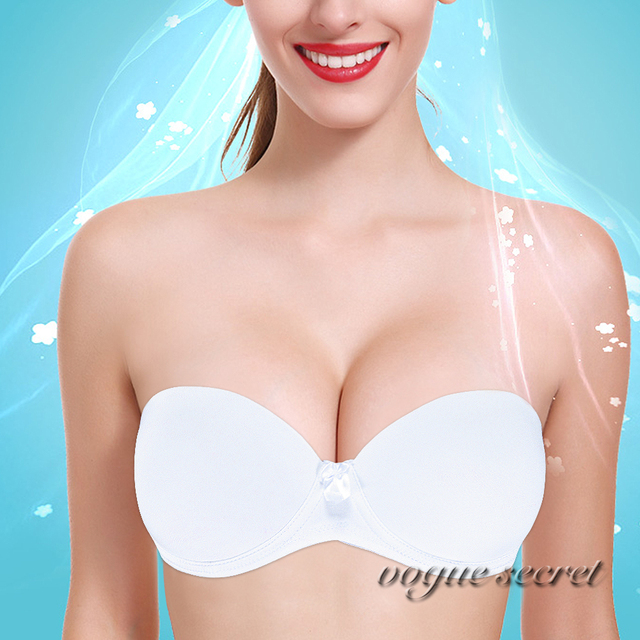 afc245788c Hot Sale Women Multiway Push Up Bra Strapless Underwired Back Clear Bras  Invisible Tranparents Wedding New Fashion Lingerie A-F