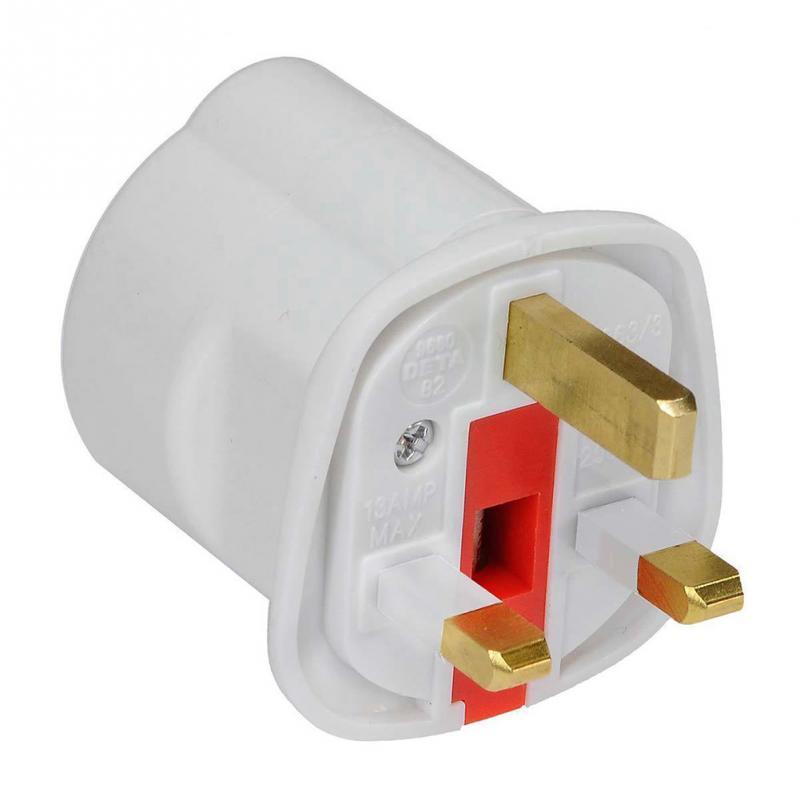 Black CDL Micro 15 Amp 3 Pin Round Pin Mains Plug
