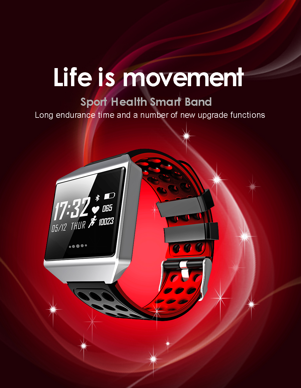 MOCRUX CK12 Smartwatch IP67 Waterproof Wearable Device Bluetooth Pedometer Heart Rate Monitor Smart Watch For AndroidIOS (1)