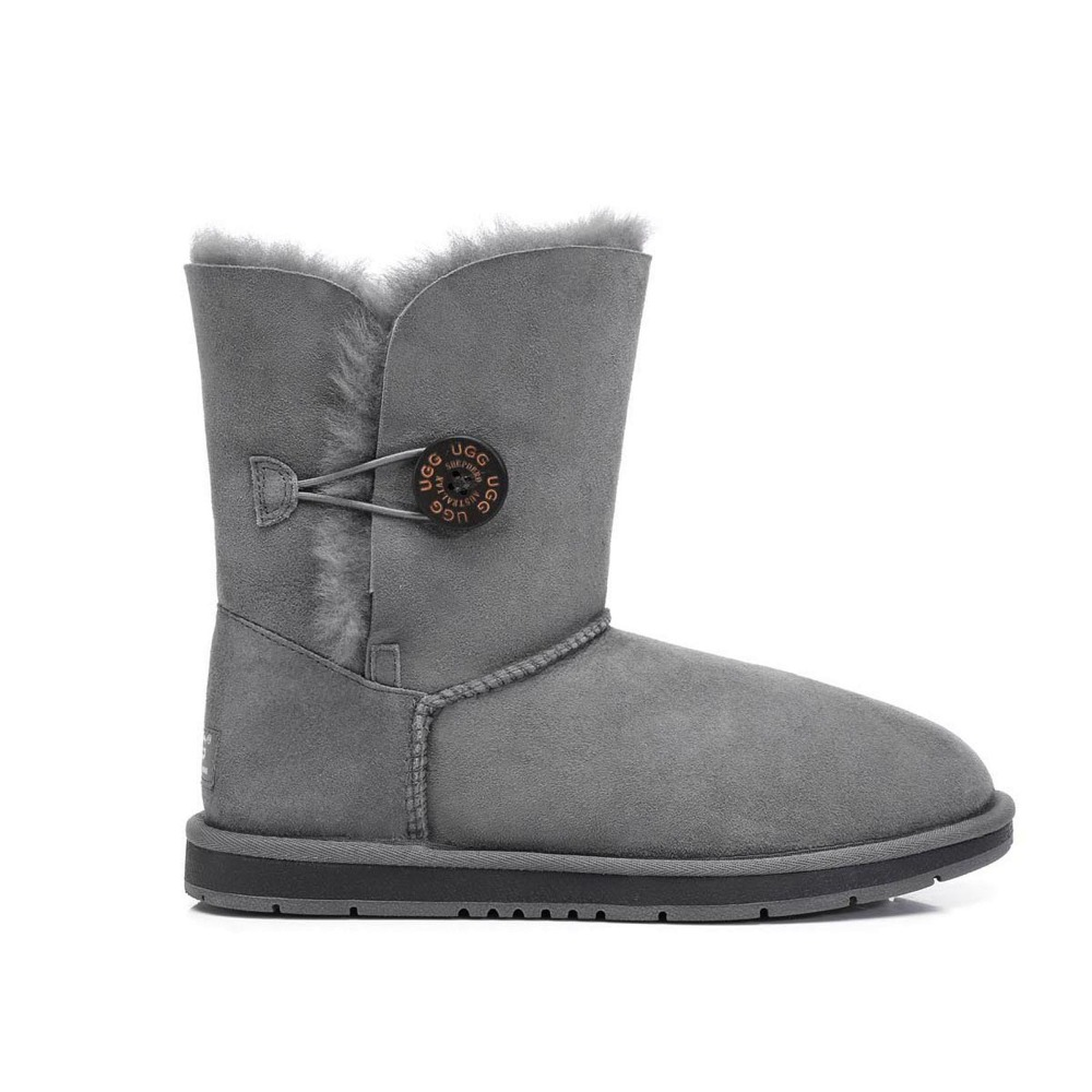 Ugg Eversheepskins women snow boot Sheepskin Classic Short Button Ladies women's winter boots shoes Round Toe Flat #15701-in Snow Boots from Shoes on ...