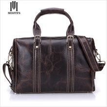 MISFITS Designer Duffle Bag Genuine Leather Man Travel Bag V Man Luggage Computer Bag Vintage Man Leather Travel Bag WHB76