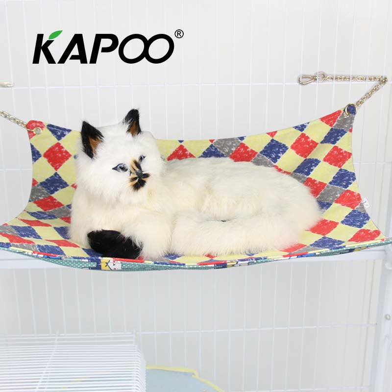 High Quality Cat Pet Hammock Cat Hammock Swing Soft And Comfortable Small Nest Dog Hammock Double Sided Available warm comfortable love lines double sided pet blankets