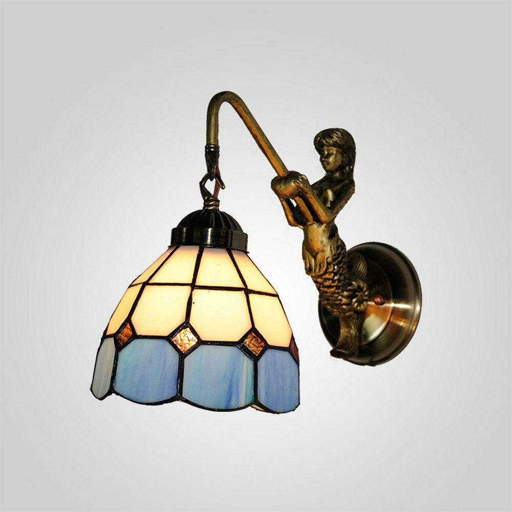 Mamei kostenloser versand tiffany lampe mit blauem glas shades für lampen 110 240 v spannung