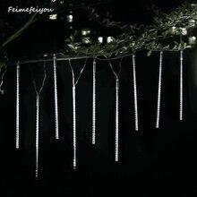 ומייר led מטאור מקלחת גשם AC100 240V LED חג המולד קישוטי עץ אורות חתונה גן חיצוני