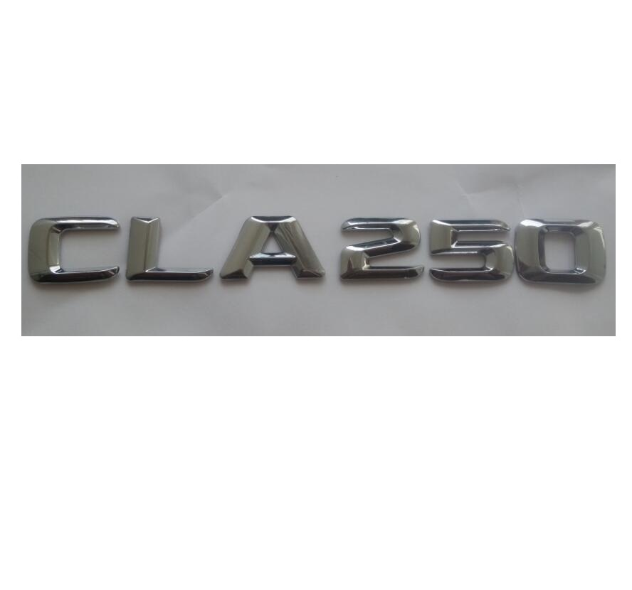 Matt Black CLA 250 Car Trunk Rear Letters Words Number Badge Emblem Decal Sticker for Mercedes Benz CLA Class CLA250