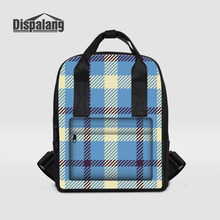 Dispalang женские рюкзаки плед полосатый Принт Большой Ёмкость школьные сумки для подростков ноутбук рюкзак для девочек Mochila Escolar