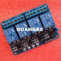 Free Shipping 4 Channel 5V Relay Module 4 Road Relay Modules Expand With Optocoupler Relay For