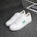 Envío de Freee mujeres moda otoño 2016 nuevos zapatos de las mujeres blancas zapatos de los planos del deporte de las mujeres zapatos casuales