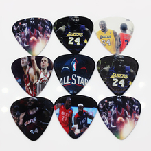 50pcs/Lot 0.71mm thickness guitar strap guitar parts Guitar Accessories Hot all-star Kobe Bryant, James HD guitar picks