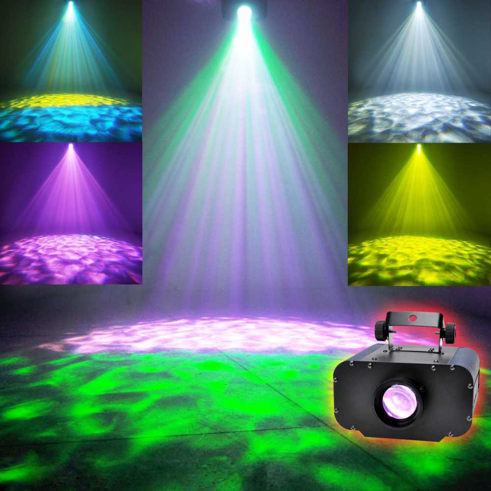 Commercial Lighting Dashing Led Water Wave Effect Ripple Projector 30w/50w Led Stage Light For Party Disco Light Dj Show Home Entertainment Ktv Background Preventing Hairs From Graying And Helpful To Retain Complexion Lights & Lighting