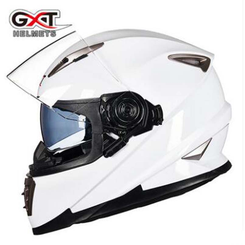 2017 New GXT Motorcycle helmets Mens Full face Double lens Moto racing kinght eauipment Full cover Motorbike safety helmets 2017 new yohe full face motorcycle helmet yh 993 full cover motorbike helmets made of abs and pc visor lens have 5 kinds colors