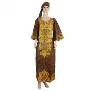 Image 4 - MD 南アフリカ女性服、伝統的なアフリカのドレスバザンリッシュ headwrap アフリカプラスサイズアフリカのプリントドレス