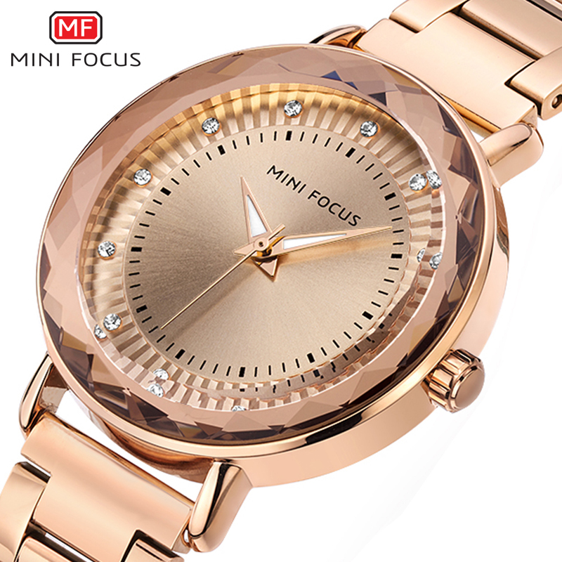 MINIFOCUS Top Brand Quartz Women Watch 2018 Rose Gold Bracelet Watches Fashion Luxury Silver Gold Clock For Ladies Relojes Mujer 2017 luxury brand watch fashion rose gold girl watches women fashion casual quartz ladies wristwatch reloj mujer clock relojes