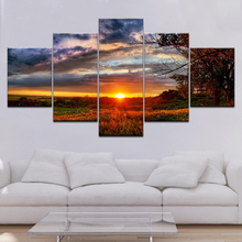 Wall Pictures for Living Room Canvas Art Nature Landscapes Sunset Painting Modular Home Decor Posters and Prints