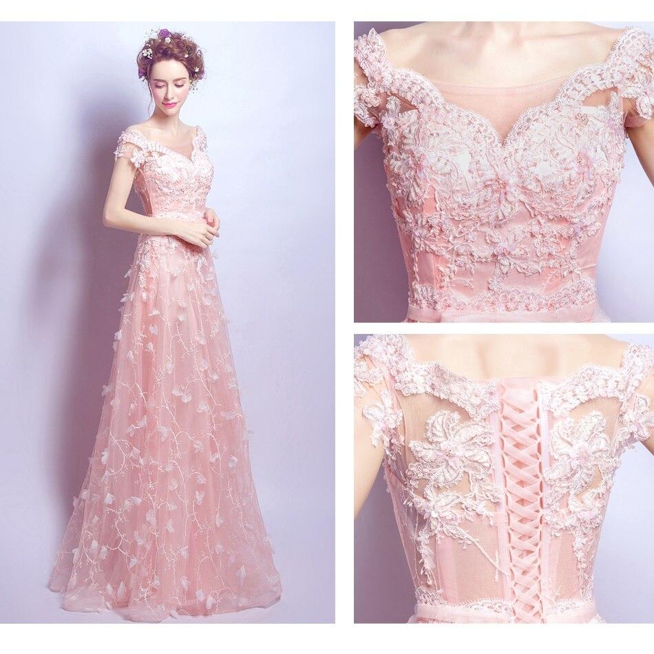 f6eec27ffc1e SOCCI Pink Crystal Pearls Beading Long Evening Dresses Women Elegant Bridal  Dress New Formal Wedding Party vestido de noite 2019-in Evening Dresses  from ...