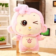 2016 new stuffed toys 28cm lovely monkey plush kids toys doll kawaii stuffed monkey big eye valentine day birthday gift  hot