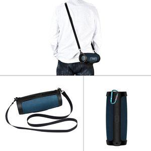 Image 4 - Silicone Case Cover Skin Met Riem Karabijnhaak voor JBL Lading 4 Draagbare Draadloze Bluetooth Speaker