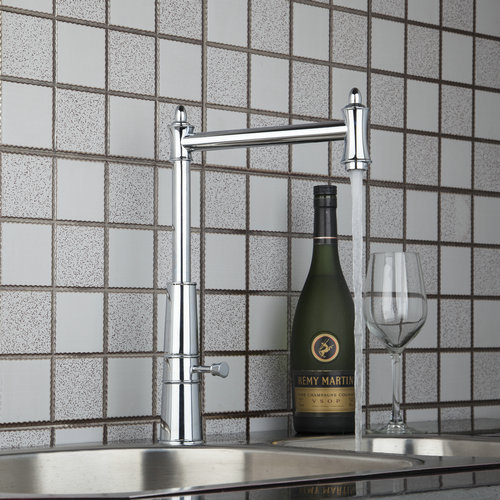 Kitchen Torneira Qnique Design Swivel 360 Single Handle Chrome 92453 1 Basin Sink Water Tap Vessel
