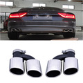 S7 Car-styling Statinless steel Auto Car Exhaust Tips Muffler pipe trim for Audi A7