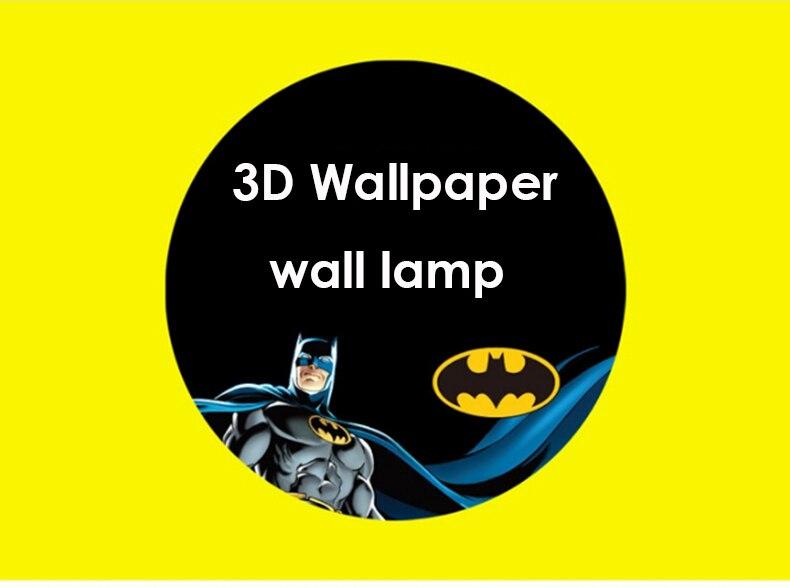 e14 led wall lamp 3D Batman Diy Wallpaper wall light Childrens Bedroom Bedside Lamp Lights Boy Gift cartoon light home lightin