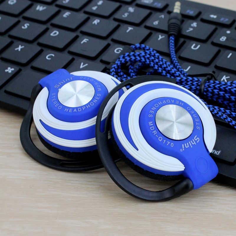 Q170 سوبر باس سماعات 3.5 مللي متر الرياضة سماعة رأس سلكية مشبك الأذن باس سماعة ل Mp3 لاعب الكمبيوتر المحمول الهاتف الجملة