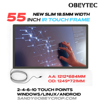 Obeytec 55 inch Infrared Touch Screen Panel, 2 Points, Easy Assembly, USB plug and play, Stable firmware, Highly Competiable