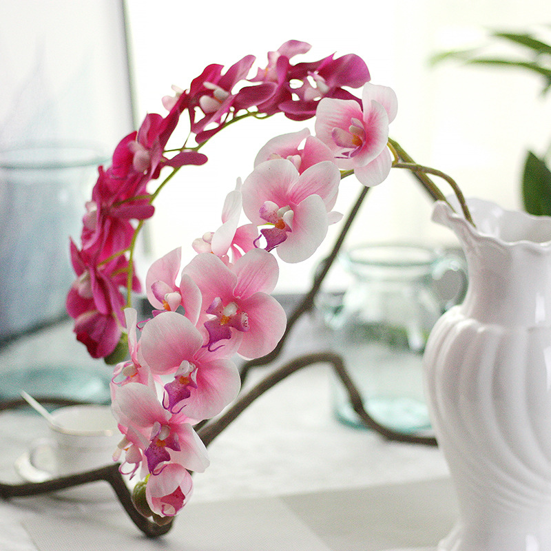 3pcs lot 11 heads artificial phalaenopsis orchid flower for Artificial decoration