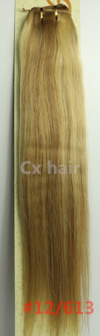 #12/ 613 16182022242628silk soft remy brazilian human hair extensions human hair weft weaving 100g/pcs