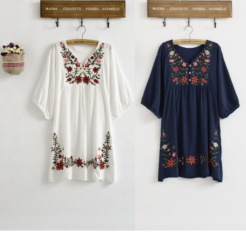 Hot Sale Vintage 70-es évek Etnikai virágos EMBROIDERED Hippi BOHO - Női ruházat