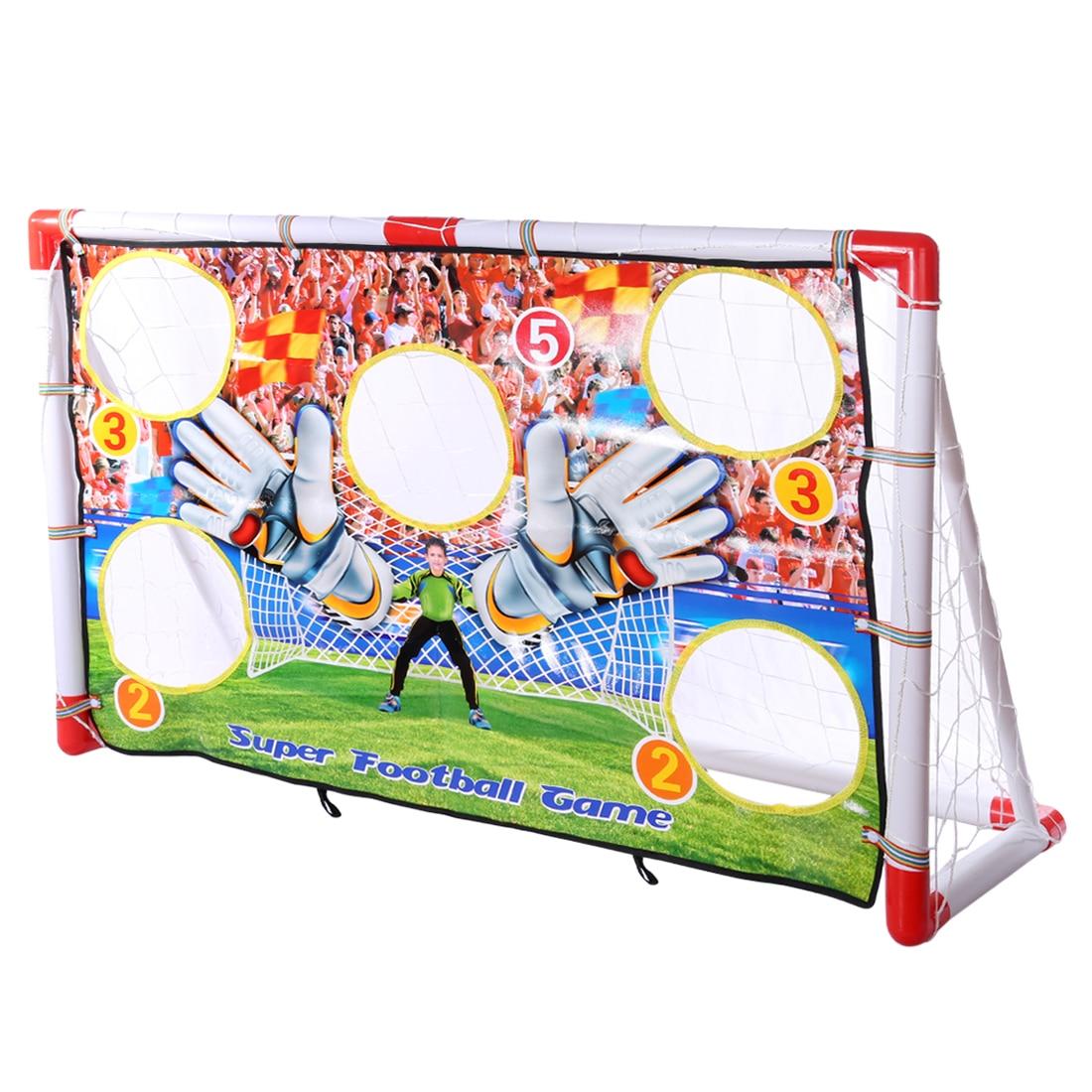 Portatile Pieghevole Goal di Calcio Per Bambini Netto Set Porta di Calcio Calcio Cancello con Scheda