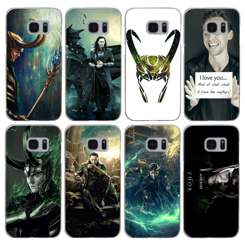 G131 Loki Thor Transparent Hard PC Case Cover For Samsung Galaxy S Note 3 4 5 6 7 8 9 Edge Plus