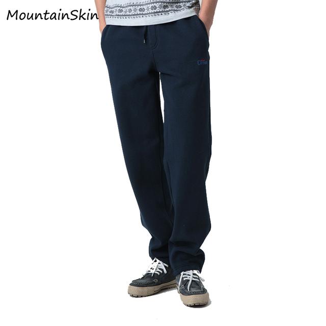 Mountainskin Suor Calças dos homens Causal Outono Inverno Quente Homens Calça Longa Moletom Marca De Moda Calças de Algodão Roupas LA108