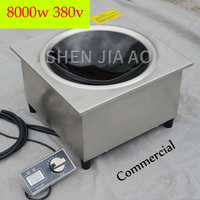 380V Commercial Induction Cooker Embedded Concave Cooker 8KW High Power Stove Durable Induction Cooker Big Panel frying furnace