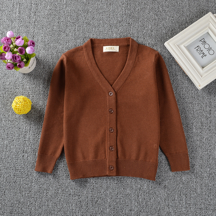 2019 Girls Candy Colors Sweaters Casual Cotton V neck Cardigans Toddler Kids Sweater Cardigans Girls Knitwear Children Outerwear in Sweaters from Mother Kids