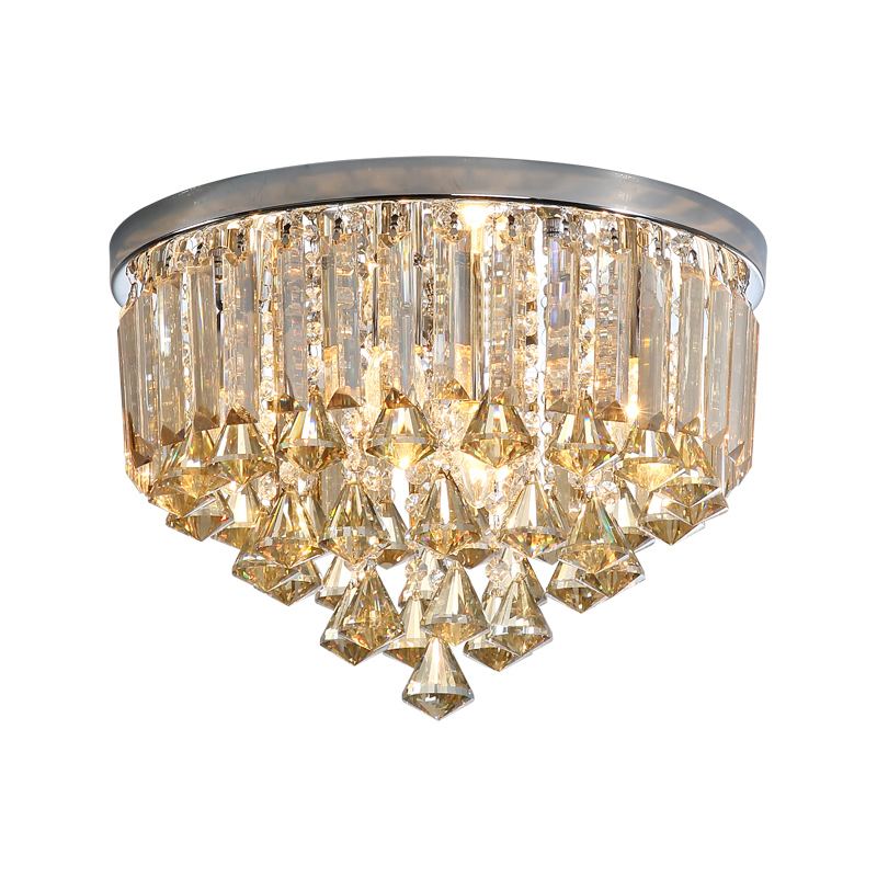 Plafonniers en cristal De Techo De LED luminaires De plafond De chambre à coucher De salon Plafondlamp dimmable De trois couleurs