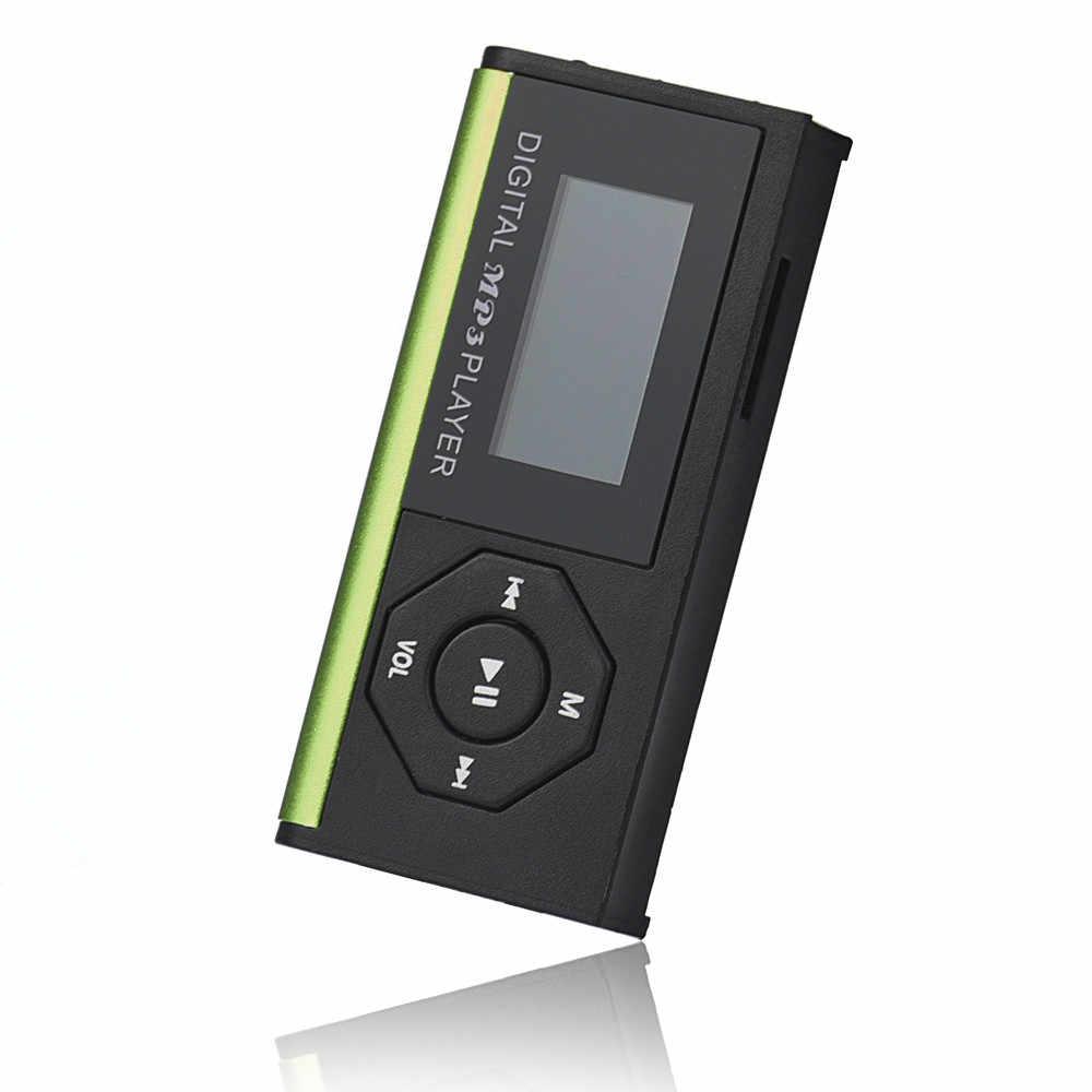 2019 أعلى الأزياء البسيطة USB MP3 الموسيقى مشغل الوسائط LCD حامل شاشة 16 GB مايكرو SD TF بطاقة البقعة أنيق تصميم الرياضة c0610