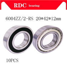 10pcs 6004ZZ 6004-2RS ball bearing 20x42x12 mm High quality deep groove ball bearing 6004(China)