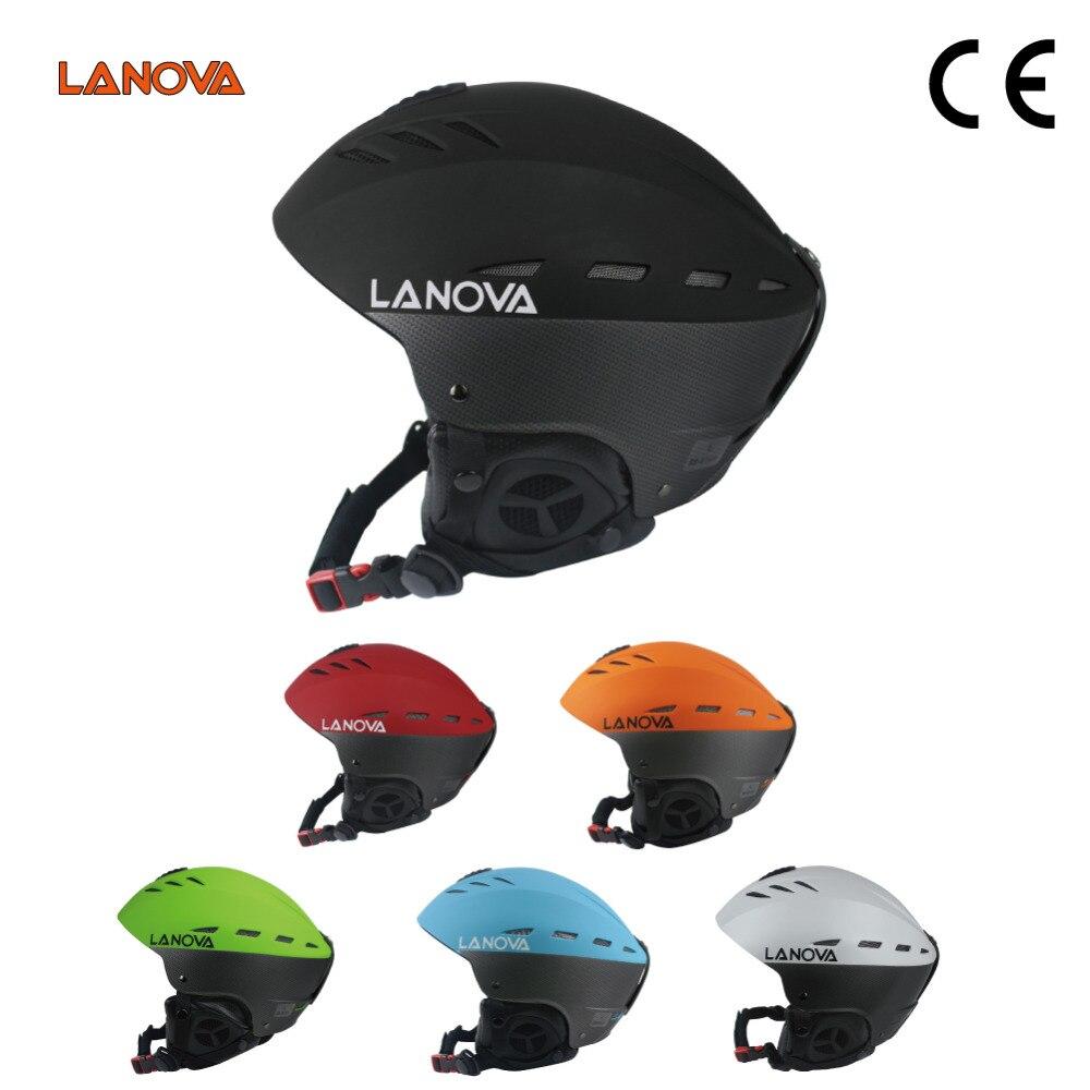LANOVA casque de Ski sécurité intégral-moulé neige casque Sports de plein air Snowboard pour hommes femmes 6 couleurs
