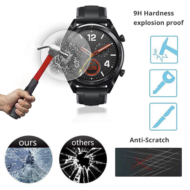 Smart Watch Film 9H Hardness Anti-Scratch Screen Protector For Huawei Watch GT Protective Tempered Glass Film HD Glass Film