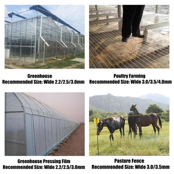 50m Plastic Staaldraad Landbouw Greenhouse Geperst Film String Shading Netto Tuin Plant Klimmen Wijnstok Houder Ondersteunende Lijn